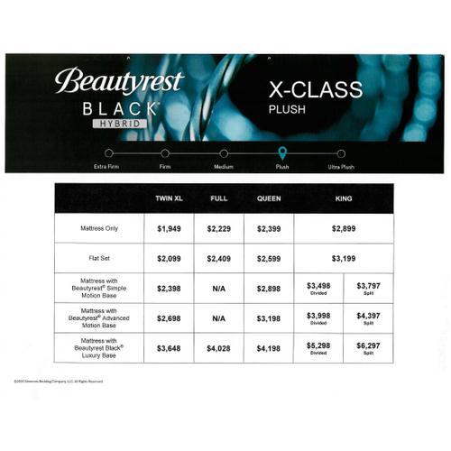 Beautyrest Black Hybrid - X-Class - Plush - Queen