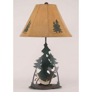 Moose In Hammock Table Lamp