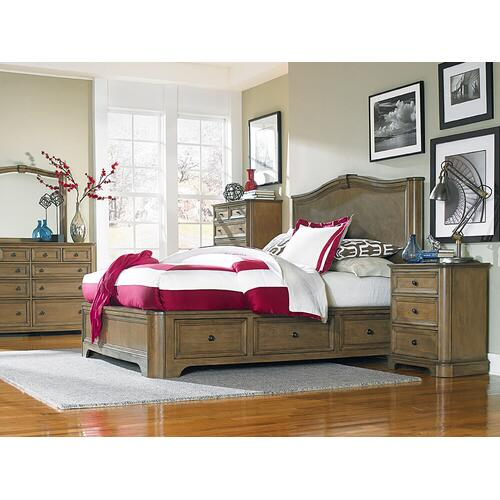RGB Stonewood King Storage Bed Rustic Glazed Brown Finish