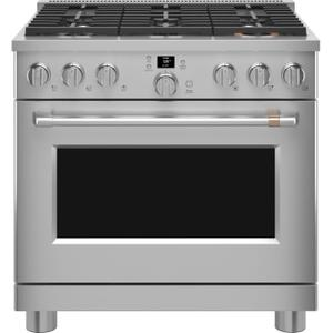 """Cafe - 36"""" ALL GAS PRO RANGE WITH 6 BURNERS"""