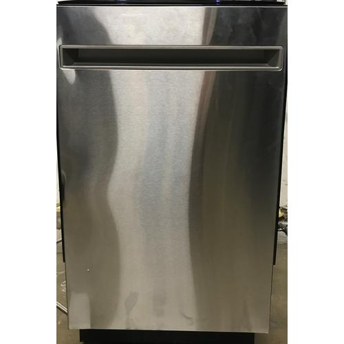 """Haier - Haier 18"""" Stainless Steel Interior Dishwasher with Sanitize Cycle"""