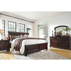 Porter 4 Pc. Queen Storage Bedroom Set Rustic Brown