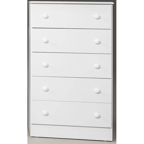 Kith Furniture - White 5 Drawer Chest