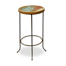 Bombay Iron-Base Stool