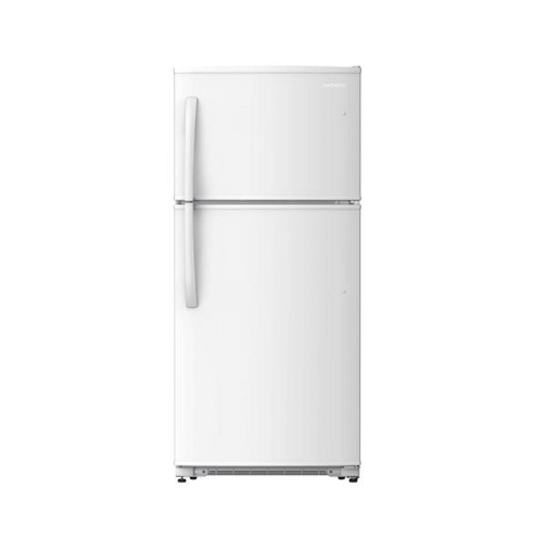 DAEWOO 18 cu. ft. Semi-Electric Top Freezer Refrigerator in White