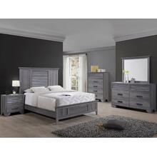 Sarter Kg Bed, Dresser, Mirror, Chest and Nightstand