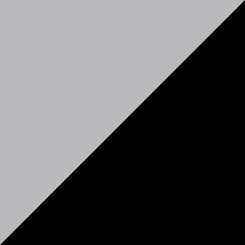 Plain Glider 2' Dove Gray and Black