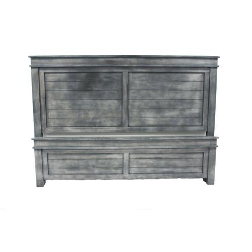 L.M.T. Rustic and Western Imports - King Bed Rustic Gray
