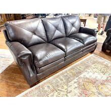 See Details - Torino Dark Brown Leather Sofa