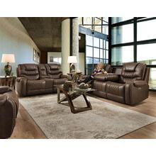 Desert Chocolate Relcining Sofa and Loveseat