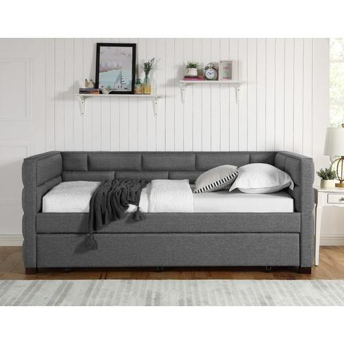 Crown Mark - Flannery Daybed and Trundle Gray