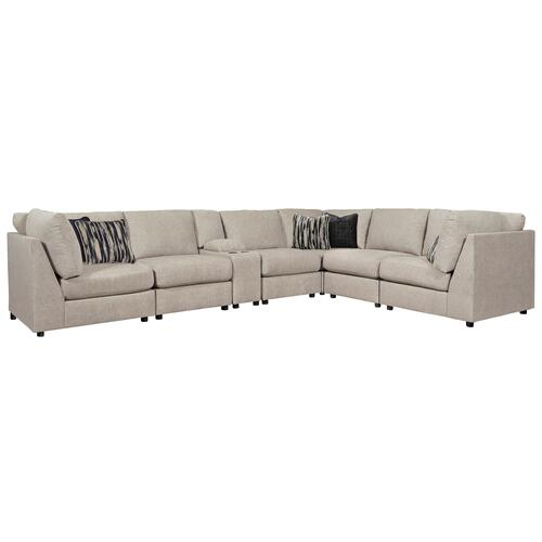 Kellway -  Bisque -  7-Piece Sectional with Console