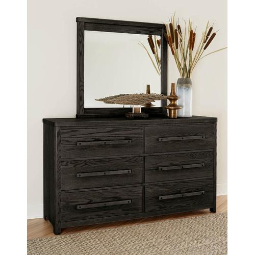 A&P Latitudes Landscape Mirror in Ebony Finish