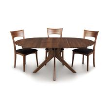 AUDREY ROUND EXTENSION TABLE IN WALNUT