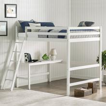 View Product - Glendale Full Size Loft Bed with Desk White