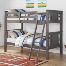 See Details - Jupiter 316 Twin/twin Grey Bunkbed