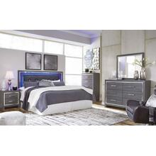 B214 5PC Set: Queen/Full LED Panel Headboard, Dresser, Mirror, Chest, and Nightstand (Lodanna)