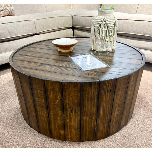 Magnussen Home - Reclaimed Wood Round Cocktail Table on Casters