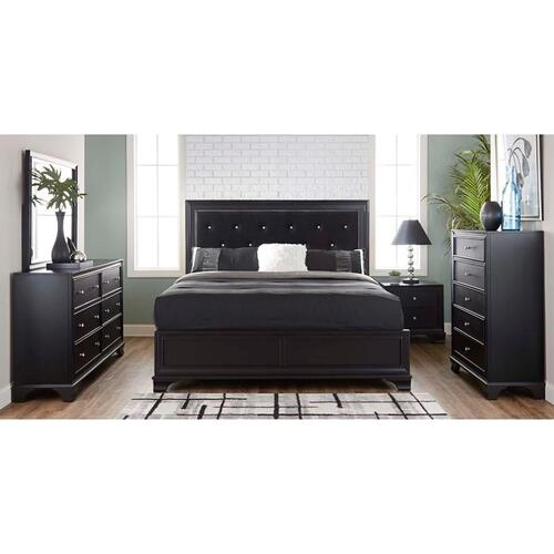 Lane Home Furnishings - Brooklyn Black Bedroom Mirror Only (11035)