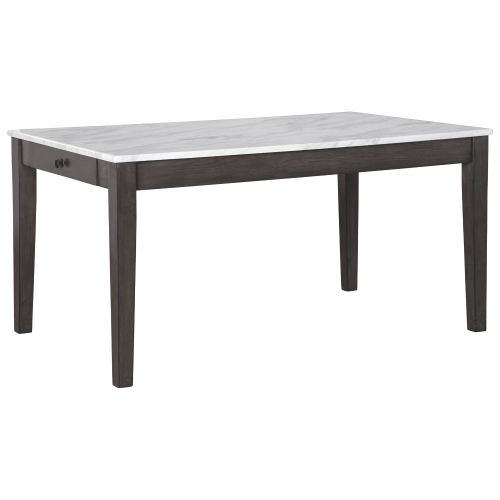 Luvoni - White/Dark Charcoal Gray - 5 Pc. - Rectangular Table & 4 Upholstered Side Chairs
