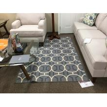 "Ashley ""Abigail"" Gray & White R322002 Carpet 53""W-83""L"