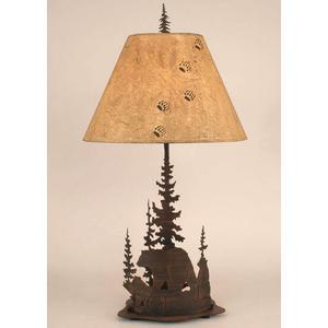 Coast Lamps - Iron Feather Tree Series w/ Bear