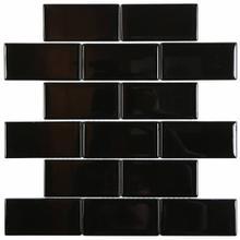 C50 Bricks Glass Mosaic - BLACK