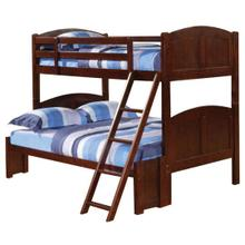 See Details - Parker Cappuccino Twin-over-full Bunk Bed