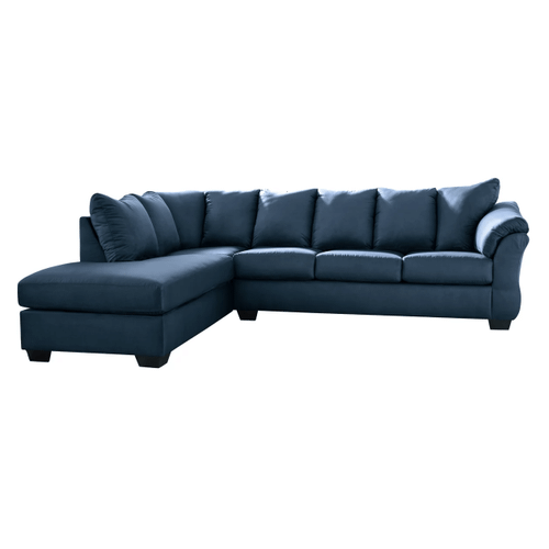 Darcy - Blue 2-Piece Sectional with Left Facing Chaise