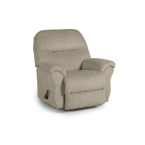 BODIE Rocker Recliner in Elephant Soft Touch Leather