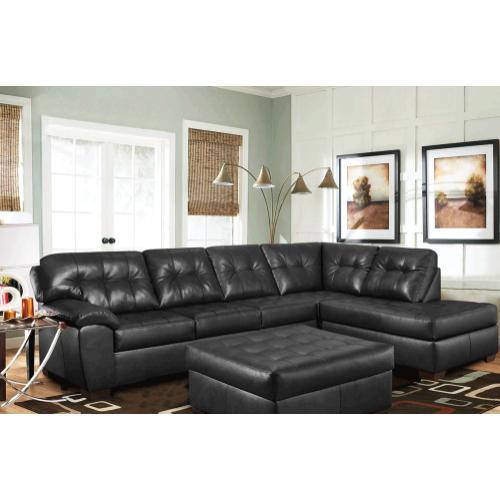Kaylas Furniture - Revlon Matador Sectional Set - Black