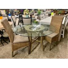 3 Piece Rattan Dining Set