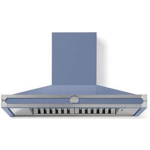 Lacornue Cornufe - Provence Blue Cornufe 110 Hood with Satin Chrome Accents