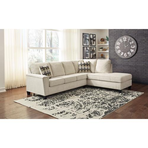 Abinger - Natural  2-Piece Sleeper Sectional with Right Facing Chaise
