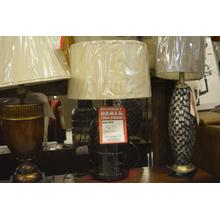 See Details - Glass barrel table lamp