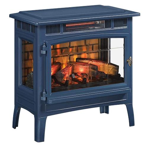 Navy 3d Infragen Electric Fireplace, Cast Iron Electric Fireplace Stove