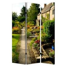 English Garden Screen 3 Panel Room Divider