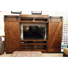 Solid Wood Barn Door | Rustic Entertainment Center