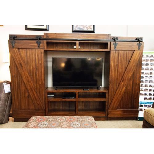 Solid Wood Barn Door | Rustic Entertainment Center
