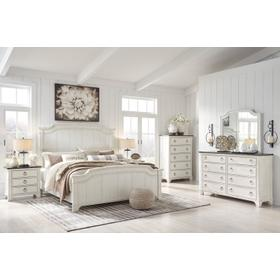 Nashbryn 4 PC. Cal King Bedroom Set Whitewash