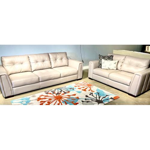 Soft Line - Italian Leather Sofa & Loveseat in Caruso Taormina