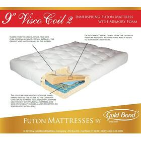 "9"" Visco Coil 2 Futon Mattress"
