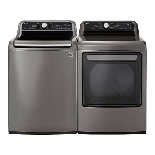 Packages - LG Top Load Silver Laundry Set (WT7800CV & DLEX7800VE)