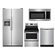 FRIGIDAIRE 4-Piece Stainless Appliance Package (Stainless Refrigerator, Range, Dishwasher & Microwave)