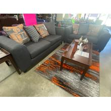 See Details - Sofa, Loveseat, Coffee Table, Two End Tables, Two Lamps and Accessories