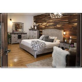 Pueblo 4 Pc. California King Bedroom Set Gray