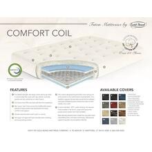 ComfortCoil Innerspring Futon Mattress - 0708I0-0130 Chocolate