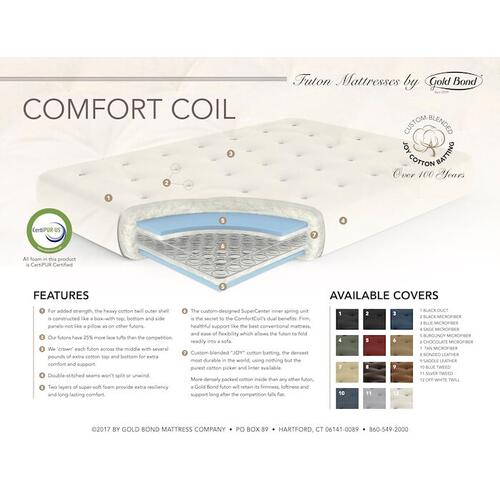 Gold Bond Mattress Company - ComfortCoil Innerspring Futon Mattress - 0708F0-0130 Blue