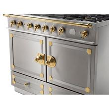 See Details - CornuFe 110 Induction Range - Stainless Steel with Stainless Steel and Polished Brass Trim