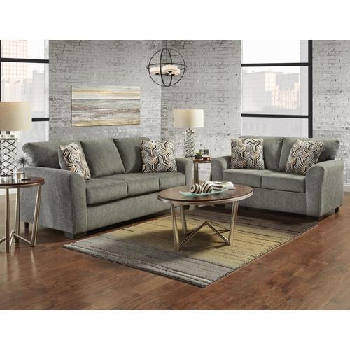 3330 Allure Grey 2PC Set: Sofa and Loveseat